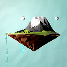 MicroMundo - Low Poly. Un proyecto de Ilustración, 3D y Paisajismo de Alejandro Bernatzky - 05.05.2014