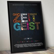 Zeitgeist - Gráfica de Evento. Un proyecto de Ilustración y Diseño gráfico de Alejandro Bernatzky - 31.08.2011