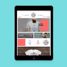 Hello Sailor. A Design, Illustration, Accessor, Design, Br, ing, Identit, Fashion, and Web Development project by The Woork Co - 05.12.2014