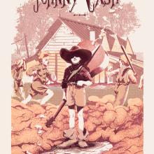 Johnny Cash - Poster commemorativo. Um projeto de Ilustração de Juan Esteban Rodríguez - 13.05.2014