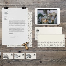 Identidad Corporativa Catering. Un proyecto de Diseño, Ilustración, Dirección de arte, Br, ing e Identidad, Bellas Artes y Diseño gráfico de Ana Sansó - 30.05.2014
