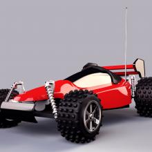 R/C Car (modeling, texturing and lightning) C4D+VRAY. Un proyecto de 3D de Dominic Plaza - 12.06.2014