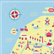 Map of Paris. A Illustration project by Noémie Durand - 07.01.2014