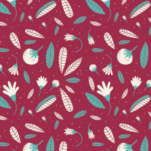 Floral Patterns. A Illustration project by ana seixas - 07.01.2014