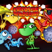 Explosive Dinosaurs. Un proyecto de Ilustración, Animación, Diseño de personajes, Diseño de juegos y Postproducción de Jorge de Juan - 03.07.2014