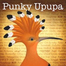 Punky Upupa. Un projet de Création d'accessoires, Design graphique et Illustration de Pepetto - 10.07.2014