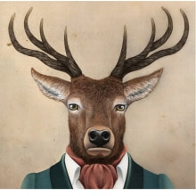 Colección Animalaria - ciervo. Um projeto de Design, Ilustração e Design de personagens de Jose Luis Oliver Campoy - 16.07.2014