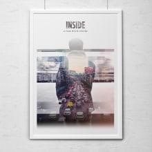 Inside - A fake movie poster. Um projeto de Design, Fotografia e Direção de arte de Kike Escalante - 10.08.2014
