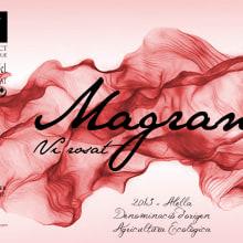 Etiqueta MAGRANA Vi rosat. Um projeto de Design gráfico de Patricia PHP - 12.08.2014