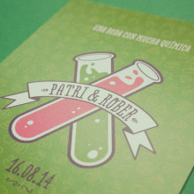 Una boda con mucha química. Un projet de Illustration, Événements , et Design graphique de Eneri Mateos - 15.08.2014
