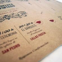 Wedding Invitations / Card to Sergio and Ana. Um projeto de Design gráfico e Packaging de Sara Palacino Suelves - 29.06.2014