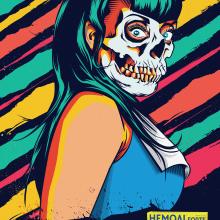 hemoal forte. Um projeto de Ilustração, Publicidade, Moda, Design gráfico e Serigrafia de Israel Delgado Blanco - 01.09.2014