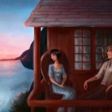 The blue castle. A Illustration project by Andrea Arbeteta - 09.21.2014