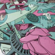Proyecto Renomo// Doce libros, doce canciones, una historia.. Um projeto de Ilustração, Br, ing e Identidade, Design interativo, Packaging, Serigrafia, Web design e Desenvolvimento Web de Almü - 07.06.2014