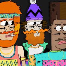 90´Style. Un proyecto de Ilustración, Dirección de arte y Diseño de personajes de Maikol De Sousa - 06.10.2014