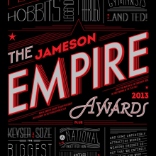 Empire Awards . A Design, Editorial Design, T, and pograph project by Martina Flor - 10.19.2014