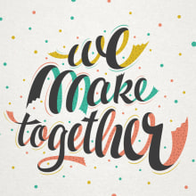 Etsy - We make together. A T, and pograph project by Martina Flor - 10.19.2014