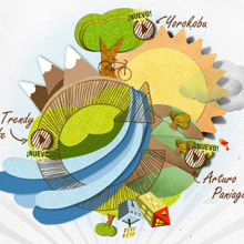 Recycle website design | Cambia con SIGRE . A Illustration, UI / UX, Art Direction, Graphic Design, Information Design, Multimedia, Web Design, Web Development, Video, and Social Media project by Ana Rebeca Pérez - 10.21.2014
