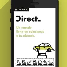 UI  App  Design |  Direct Seguros. A Design, Illustration, UI / UX, Art Direction, Graphic Design & Interactive Design project by Ana Rebeca Pérez - 10.21.2014