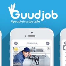 UI Mobile App | Guudjob. A Design, Illustration, UI / UX, Art Direction, Graphic Design, Information Design, Interactive Design, Marketing, and Social Media project by Ana Rebeca Pérez - 10.21.2014