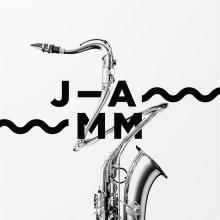 Jamm, identidad gráfica para la Asociación de Músicos de Jazz de Cataluña. Um projeto de Direção de arte, Br, ing e Identidade, Design gráfico e Web design de Edu Torres - 16.11.2014