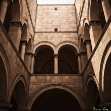 Monasterio. 3D Max + Vray 3.0 + Photoshop. A 3D, and Architecture project by Sara Gonzalez - 11.25.2014