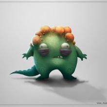 Bumpy monster + Video process. Un proyecto de Cine, vídeo, televisión, Diseño de personajes y Cómic de Daniel Catalina - 30.11.2014