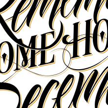 Calendario Ajúa 2015. A Calligraph, and Graphic Design project by Victor Kams - 12.02.2014