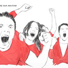 Historias de fútbol.. Un proyecto de Ilustración, Dirección de arte y Cómic de Gonzalo Cordero de Ciria - 04.12.2014