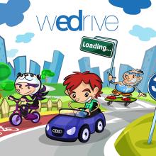 """Project Presentation: Audi App for children """"WeDrive"""". Un proyecto de Ilustración, Diseño de juegos y Multimedia de Jorge de Juan - 24.12.2014"""