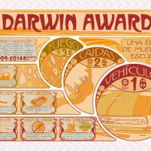 Darwin Awards Art Nouveau - Mi Proyecto del curso Infografía antibostezos. Um projeto de Ilustração, Design gráfico e Arquitetura da informação de Carlos Luzón Gracia - 02.01.2015