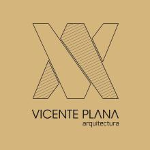 """Logotipo para """"Vicente Plana Arquitectura"""". Um projeto de Br, ing e Identidade e Design gráfico de Sara Palacino Suelves - 21.01.2015"""