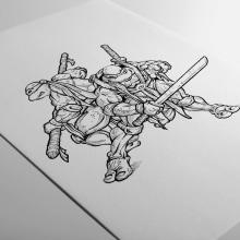Tortugas Ninja. Un proyecto de Ilustración, Diseño de personajes y Cómic de Fito Barraza - 05.01.2015