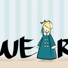 verbo 'to wear' para theiregularproject. Un proyecto de Ilustración de Estela Pedrero - 28.01.2014