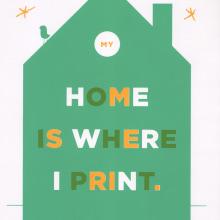 My home is where i print. Un projet de Design , Beaux Arts , et Sérigraphie de Barba - 28.01.2015