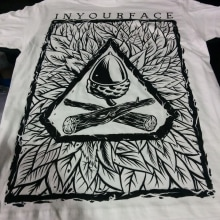 Camisetas Inyourface (del papel al textil). A Illustration, and Screen-printing project by Hugo Sánchez Ochoa - 02.03.2015