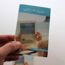 Folleto Wifi Away. Un proyecto de Br, ing e Identidad y Diseño gráfico de Chary Esteve Vargas - 14.08.2014
