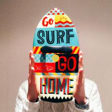 GO SURF OR GO HOME. Un proyecto de Ilustración, Artesanía, Pintura y Tipografía de Natalia Escaño - 19.02.2015