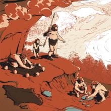 El Neandertal en Málaga. Um projeto de Ilustração, Animação e Design de informação de Juan Esteban Rodríguez - 09.03.2015