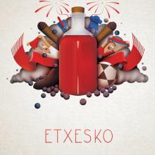 Pacharán Etxesko. Un proyecto de Diseño gráfico e Ilustración de Javier Sánchez Nagore - 17.03.2015