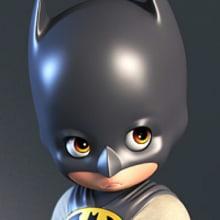 Little Batman. Um projeto de 3D e Escultura de Luis Gomez-Guzman - 22.03.2015