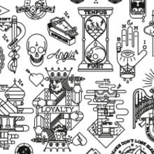 Tattoo Flash. A Design, Illustration und Grafikdesign project by Bnomio ™ - 31.12.2014