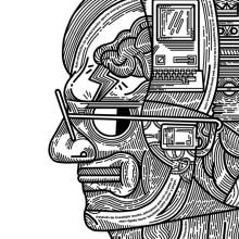 Ciencia (II)) Steve Jobs. Un proyecto de Ilustración y Diseño editorial de Juan Díaz-Faes - 13.04.2015