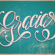 Lettering ¡Gracias!. A Graphic Design, T, and pograph project by anacatelli - 04.29.2015