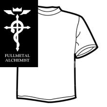 Diseño de Camisetas - Full Metal Alchemist. Un projet de Design graphique , et Sérigraphie de Mireya Capitaine - 15.05.2015