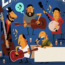 """Cartel Genérico para conciertos de """"Raperos de Labranza"""". Un proyecto de Diseño e Ilustración de Hugo Tobío - 05.05.2015"""
