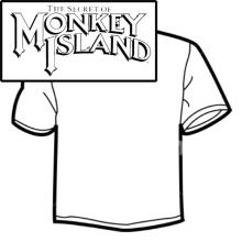 Diseño de Camisetas - Monkey Island. Un projet de Design graphique , et Sérigraphie de Mireya Capitaine - 15.05.2015