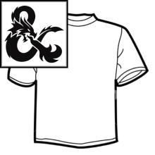 Diseño de Camisetas - Rol D&D. Un projet de Design graphique , et Sérigraphie de Mireya Capitaine - 22.05.2015