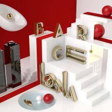 Proyecto BARCELONA del curso Dirección de Arte con Cinema 4D. A 3D project by Albert Ribalta Rosselló - 05.27.2015