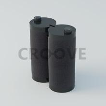 CROOVE Notebook Speakers. Un proyecto de Diseño, Música, Audio, 3D, Informática, Diseño industrial y Diseño de producto de Pablo Lardón - 09.01.2015